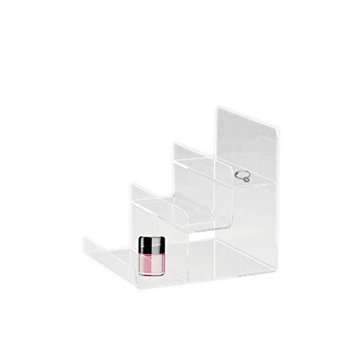 Clear Acrylic 3-Tier Display Stand Acrylic Riser Display Shelf for Amiibo Funko POP Figures 3 Step Acrylic Wallet Display Organizer Holder