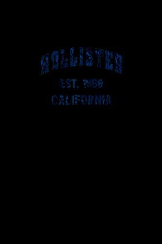 Hollister, California Home Souvenir . EST. 1868 Raglan Baseball Tee Notebook 114 Pages 6''x9'' Blank lined
