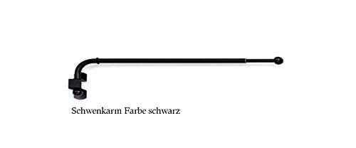 Schwenkbügel , Schwenkarm für die Gardinendekoration. Farbe nickel/matt , ausziehbar von 60 cm bis 110 cm