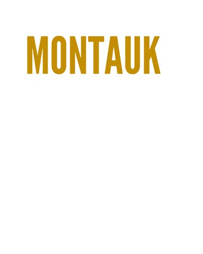 MONTAUK: A Decorative GOLD and WHITE Designer Book For Coffee Table Decor and Shelves   You Can Stylishly Stack Books Together For A Chic Modern ... Stylish Home or Office Interior Design Ideas