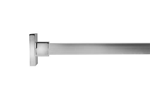 Croydex Tringle de douche carrée avec anneaux Longueur 2500 mm Chrome