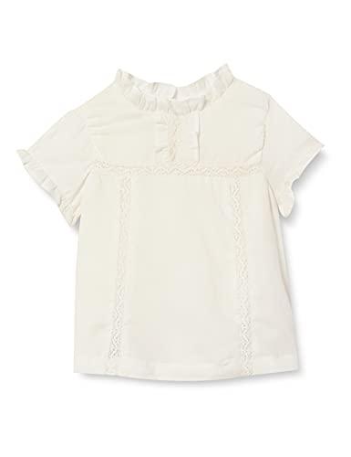 Gocco Blusa romantica Camisa, Blanco Roto, 12/1 Meses para Bebés