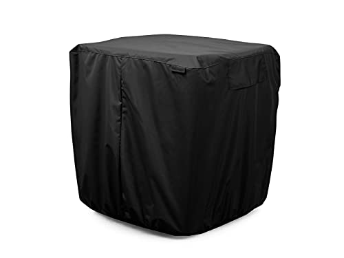 Covermates Air Conditioner Cover - Heavy-Duty Polyester, Weather Resistant, Elastic Hem, AC & Equipment-Ripstop Black