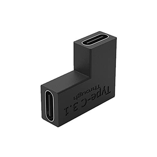 MY99USSI USB 3.1 Tipo C Adaptador Convertidor 10 Gbps USB C Carga de Datos Sincronización de extensión Conector Enchufe para computadora portátil Tableta Teléfono Codo Hembra a Hembra