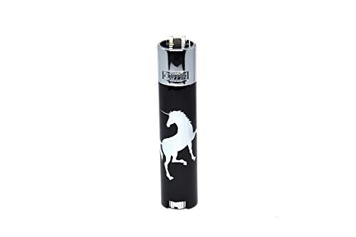 Clipper® Metal Unicorns Feuerzeuge Metal Large inkl. Geschenkbox (Silber)