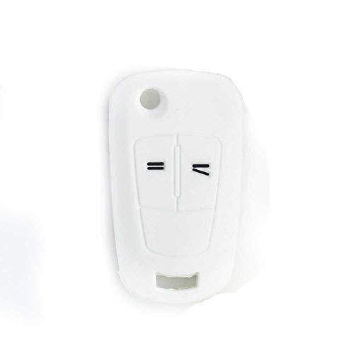 MPOQZI Funda de Silicona para Llave de Coche con 2 Botones, Apta para Vauxhall Opel Corsa Astra Vectra Signum