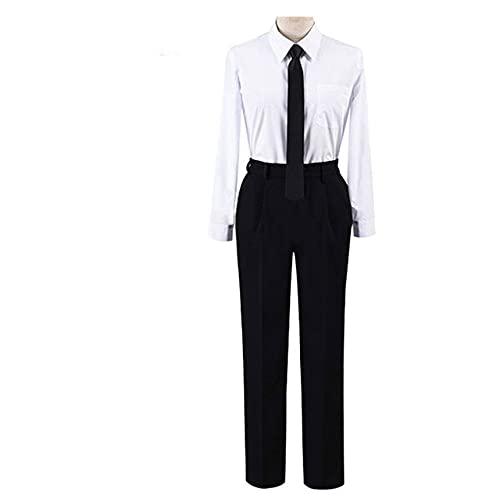 Anime Comic Motosierra Hombre Disfraces Makima Cosplay Uniforme de Enfermera Vestido Traje Negro Gabardinas Disfraz de Halloween Conjunto Completo Unisex - Modelo 3, S, Mujer