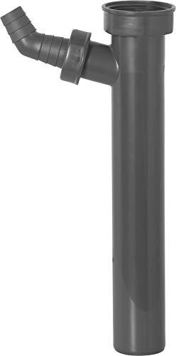 Cornat Rezyklat Verstellrohr - 1 1/2 Zoll x 40 mm - 250 mm Länge - Mit Geräteanschluss - Hergestellt aus recycelten Kunststoffen - Made in Germany Qualität / Siphon-Tauchrohr / T356004R