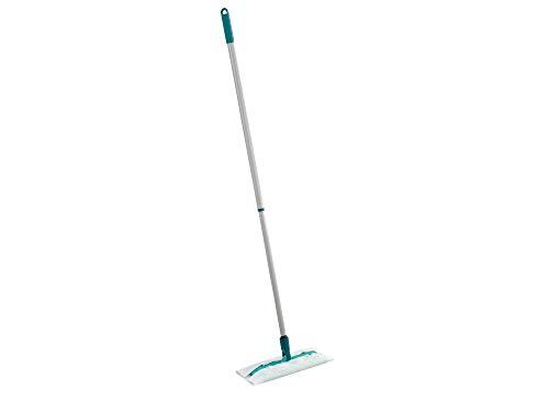 Leifheit Lave sol télescopique Clean & Away, balai serpillère rotation 360° pour un nettoyage à sec efficace, balai avec manche télescopique 80-132 cm