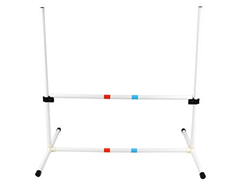 Dog Agility Bar Jump - Training Equipment - Obstacle Course Hurdles for Jumping Practice, Exercise Drills - Adjustable Plastic Frame and Poles with Carrying Bag