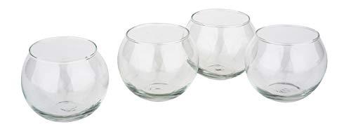 VBS Teelichtglas BOWL 4 Stück Glas klar H: 5,3cm