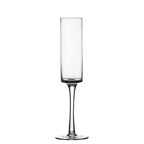 FEANG Copas de vino rectas de champán copa especial para cócteles, cristal de burbujas de cristal, regalo elegante para fiestas de inauguración de la casa, copas de champán