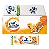FITNESS Peach & Apricot Barrette di Cereali con Albicocche e Pesche, 24 Pezzi