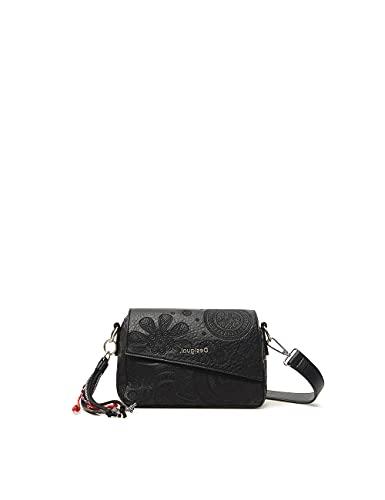 Desigual Womens BOLS_Deja VU Phuket Mini Hand Bag, Black, One Size