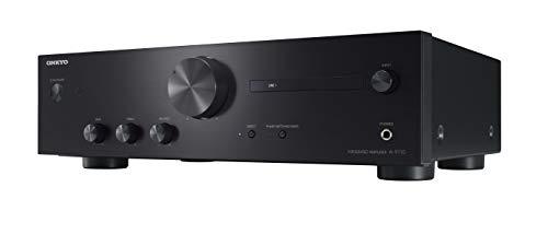 Onkyo a-9110amplificatore stereo integrato (50W + 50W, Ingresso Phono MM, 4x RCA, Borne d' ingresso Ri) nero