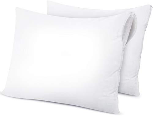 Utopia Bedding Copricuscini Impermeabili - Set di 2- Federe Impermeabile con Cerniera- Protegge da Allergie, Acari della Polvere E Batteri (51 x 71 cm)