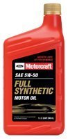 5w50 Ford Motorcraft XO-5w50-QGT Full Synthetic Motor Oil 12 qt case