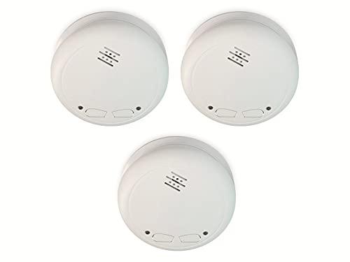 Alecto SA-33 Rauchmelder vernetzt 3er Set, inkl. Batterien, EN14604:2005/AC:2008 geprüft und 85dB Alarmsignal