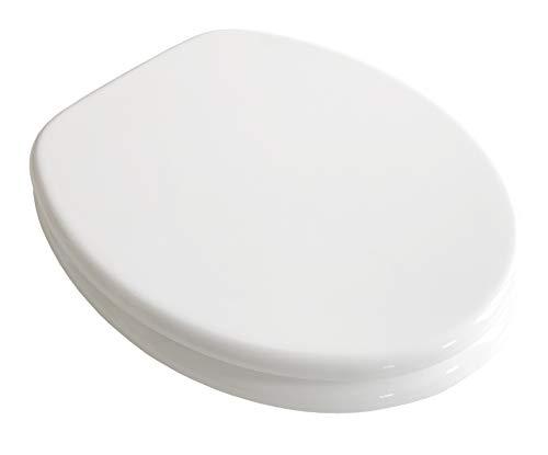 ADOB WC Sitz Klobrille Farbe weiss, extrem stabil, messing verchromte Scharniere, WC-Brille WC-Deckel