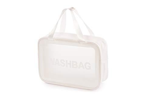 Bolsa de Aseo Transparente PVC Impermeable con Cremallera. Neceser de cosméticos y Organizador para Viajes…