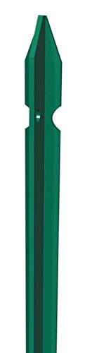 Paletto In Ferro Plastificato, Per Recinzione, Altezza 150cm,Conf. 10 Pezzi
