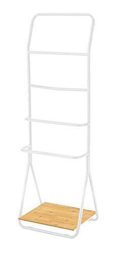 WENKO Toallero Verona blanco - Toallero de pie, con 4 barras, Metal, 51 x 156.5 x 40 cm, Blanco