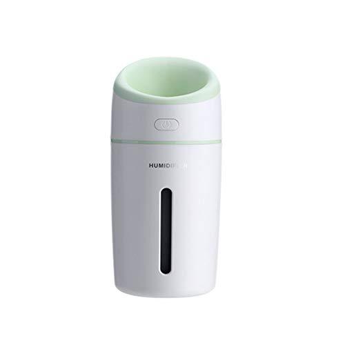 HRYBD ultrasone luchtbevochtiger, 320 ml, fluisterstille mini-luchtbevochtiger diffuser, auto-off, met LED-licht, draagbare luchtbevochtiger, kantoor, auto, reis, slaap kinderen volwassenen