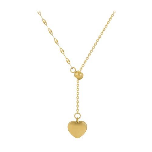 Bosi General Merchandise Colgante de Amor, Collar de Acero de Titanio, Cadena de clavícula, Mano de Obra Fina, Aspecto Hermoso, Regalo Creativo