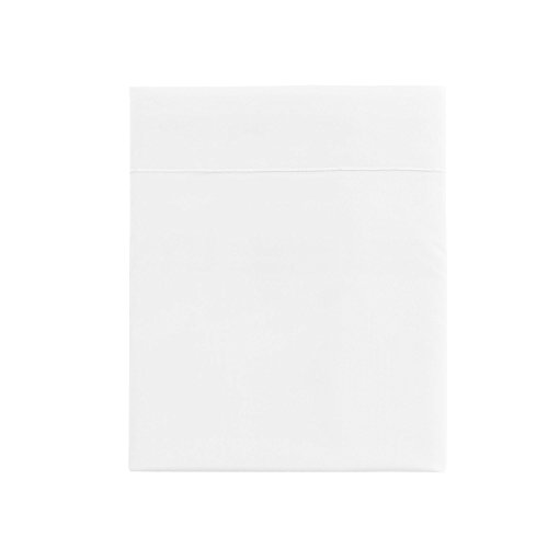 Essix - Drap Plat Star Line Coton Blanc 270 x 300 cm