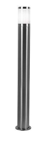 Lámpara de pie para exteriores (acero inoxidable, 14 cm de diámetro, 80 cm de altura)