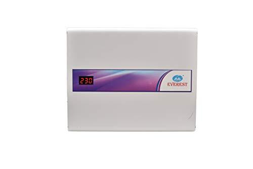 Everest 5 KVA Triple Booster Digital Model Voltage Stabilizer for AC Upto 2 Ton (Working Range : 90 V-300 V),(White Color)