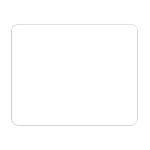 Mauspad in weiß I 24 x 19 cm I Mousepad in Standard-Größe, rutschfest I schlicht modern zeitlos I dv_640