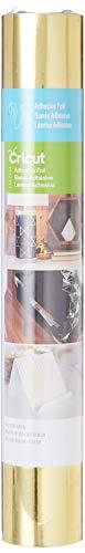 Cricut Foils 30,5x 121,9cm Bande adhésive Pour métal, Aluminium, doré métallique, Metallic Gold, Folie, Multicolour, one Size