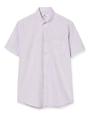 Amazon-Marke: find. Herren Kurzärmeliges Oxford-Hemd, violett (Flieder), XL, Label: XL