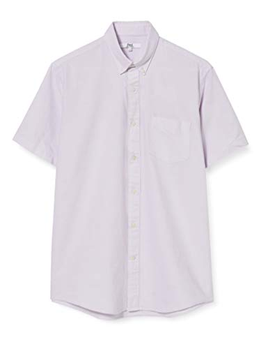 Amazon-Marke: find. Herren Kurzärmeliges Oxford-Hemd, violett (Flieder), XXL, Label: XXL