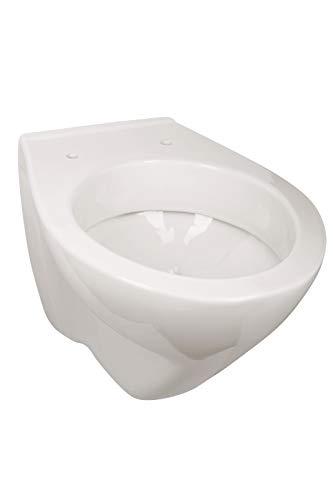 Calmwaters® - Universal - Weißes Hänge-WC in Weiß als Tiefspüler mit waagerechtem Abgang zur Wandmontage - 08AB2319