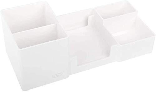 YLLAND Stifthalter, Multifunktionale Stifthalter-Schreibtisch-Organisator-Halter-Box Büro-Schreibwaren 25.5x11x9cm (Farbe: schwarz) LNNDE (Color : White)