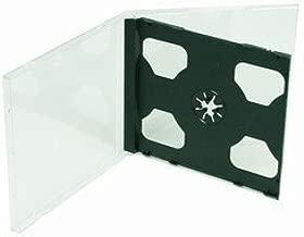 AcePlus Standard CD Jewel Case Assembled Black Double , 50 Pieces