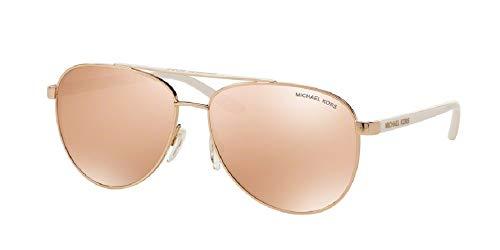 Michael Kors MK5007 HVAR Aviator 1080R1 59M Rose Gold-Tone/Rose Gold Flash Sunglasses for Women+ FREE Complimentary Eyewear Care Kit