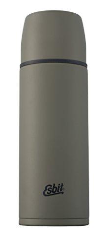 Esbit Isolierflasche, Edelstahl, BPA-Frei, Schwarz & Olivgrün, 500ml, 750ml & 1l, Reisen, Outdoor, Angeln, für warme und kalte Getränke, für Tee & Kaffee