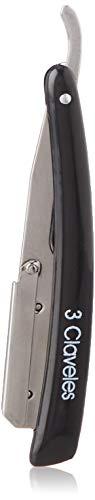 3 Claveles 12664 - Navaja de afeitar de hoja intercambiable y cierre de seguridad negro