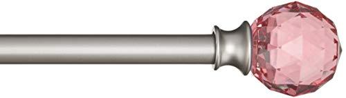 Amazon Basics - Dekorative Gardinenstange, 1,6 cm, Facettierter Ball-Knauf - 122 cm, Pink