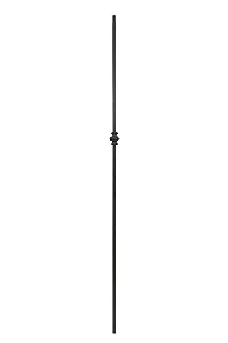 T60 - Iron Balusters - Single Knuckle - Hollow - 44 in X 1/2 in Square - Box of 10 (Satin Black)