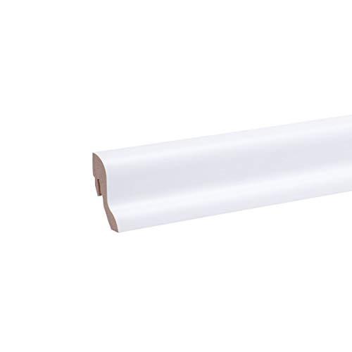 25m Sockelleisten All Inclusive Paket Weiß - Fußleisten Sparpaket
