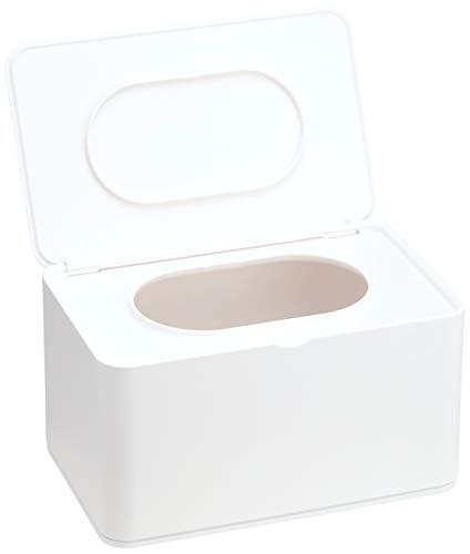 山崎実業マスクケースホワイト約W19XD12XH10.5cmスマートマスクストッカーマスク収納大きな取り出し口4282