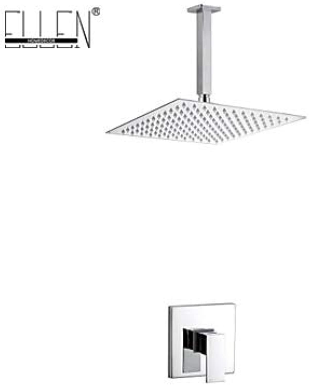 Bath Ceiling Shower Set with 8 inch Stainless Steel Shower Head Bathroom Rain Shower Mixer,Weiß