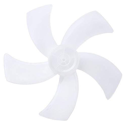 IEFIEL Aspas de Ventilador Paletas de 5 Hojas Plásticas Palas de Ventilador de Plástico para Ventilador de Pie Blanco/Verde Blanco 18 inch