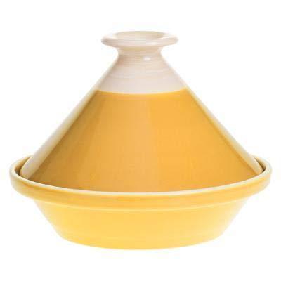 SECRET DE GOURMET Piatti Marocchini TAJINE, Ceramica, Giallo