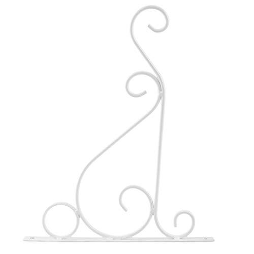 KUHRLRX Plante Murale Crochet Suspendu Classique Romantique Aménagement Paysager Salle De Bains Décor De Jardin Crochet Garde-Corps en Pot Plateau, Fer, Petit Blanc