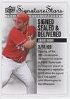 Adam Dunn (Baseball Card) 2009 Upper Deck Signature Stars - Signed Sealed & Delivered #SSD-7